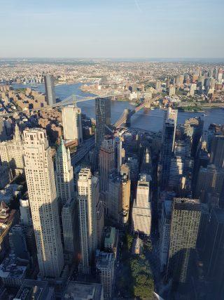 Vista dall'alto dei grattacieli di Manhattan a New York.
