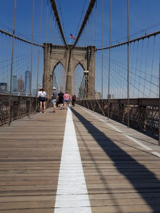 VIsta del Ponte di Brooklyn durante la vacanza di 5 giorni a New York.