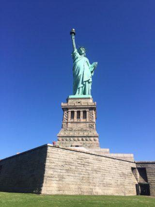 Primo piano della Statua della Libertà a New York