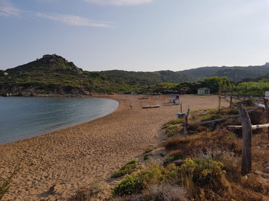 Veduta della spiaggi di Porto Quadro a Santa Teresa di Gallura