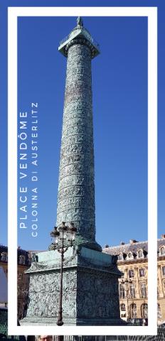 La colonna di Place Vendomme a Parigi