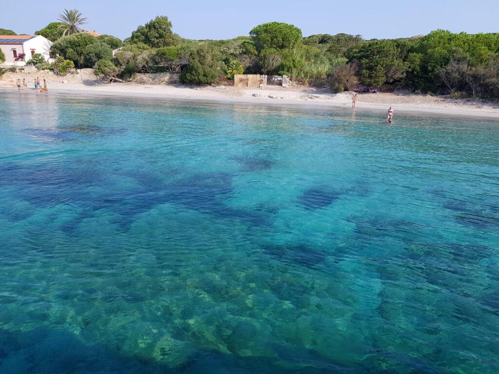 Cala Santa maria, spiaggia del Parco Nazionale dell'Arcipelago di la Maddalena