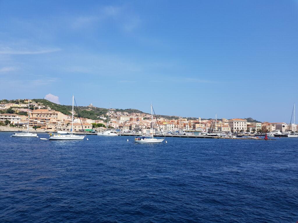 Vista della Maddalena dal Mare - Isola della Maddalena , Sardegna