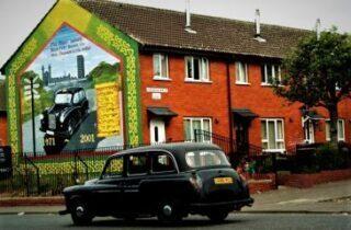 Murales di Belfast in taxi