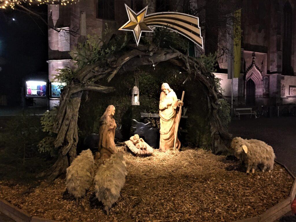 Il presepe dei mercatini di Natale di Merano