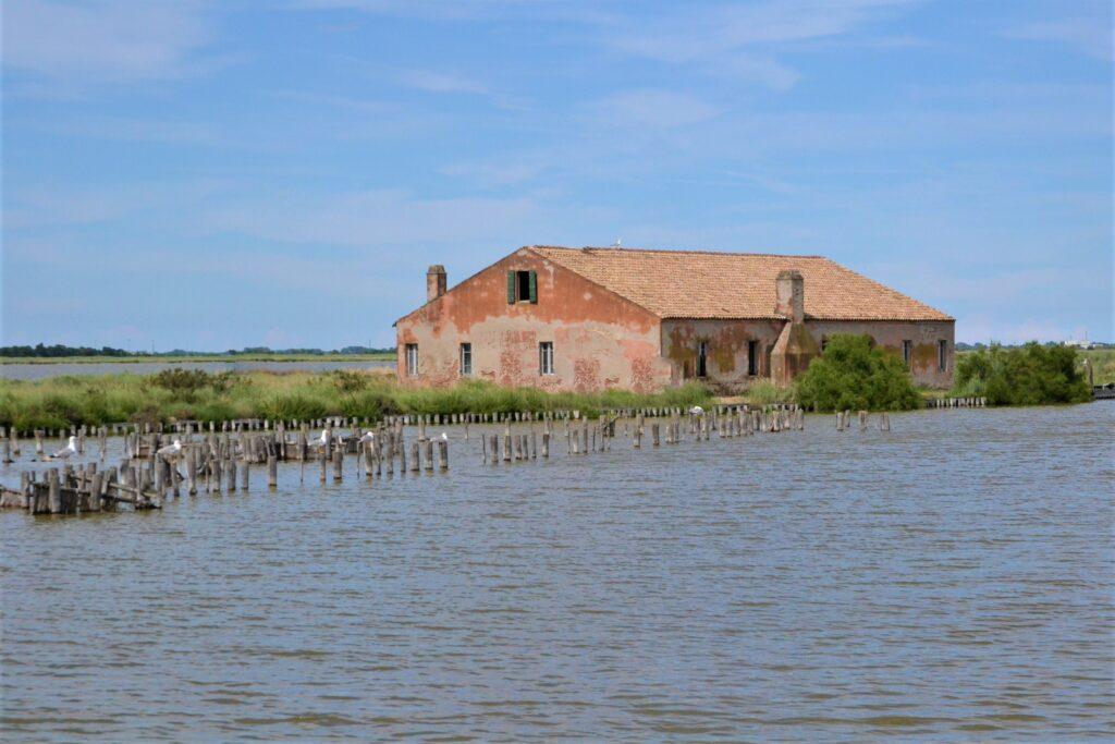 Casone di pesca nelle Valli di Comacchio