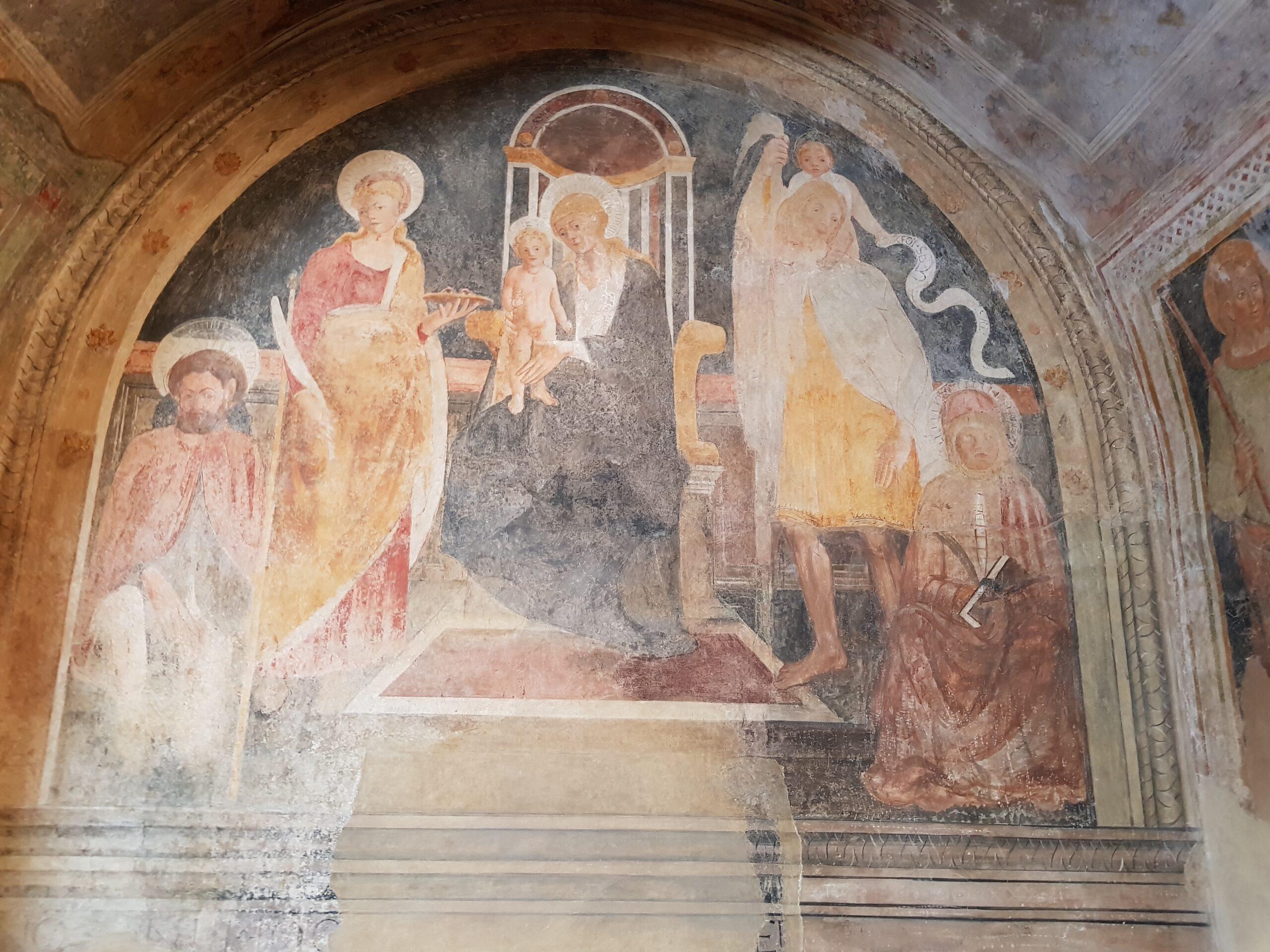 Affresco della Pieve di San Nicola a Capalbio