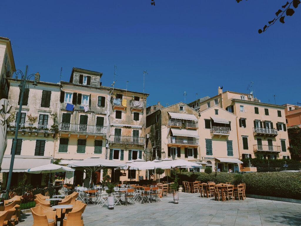 Il centro storico di Corfù Old Town