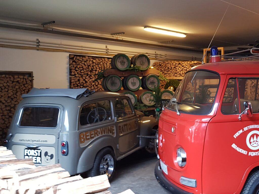 Esposizione di veicoli d'epoca al Birrificio Forst