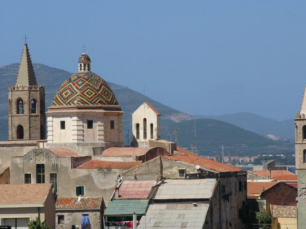 La cupola decorata della Chiesa di San Michele ad Alghero