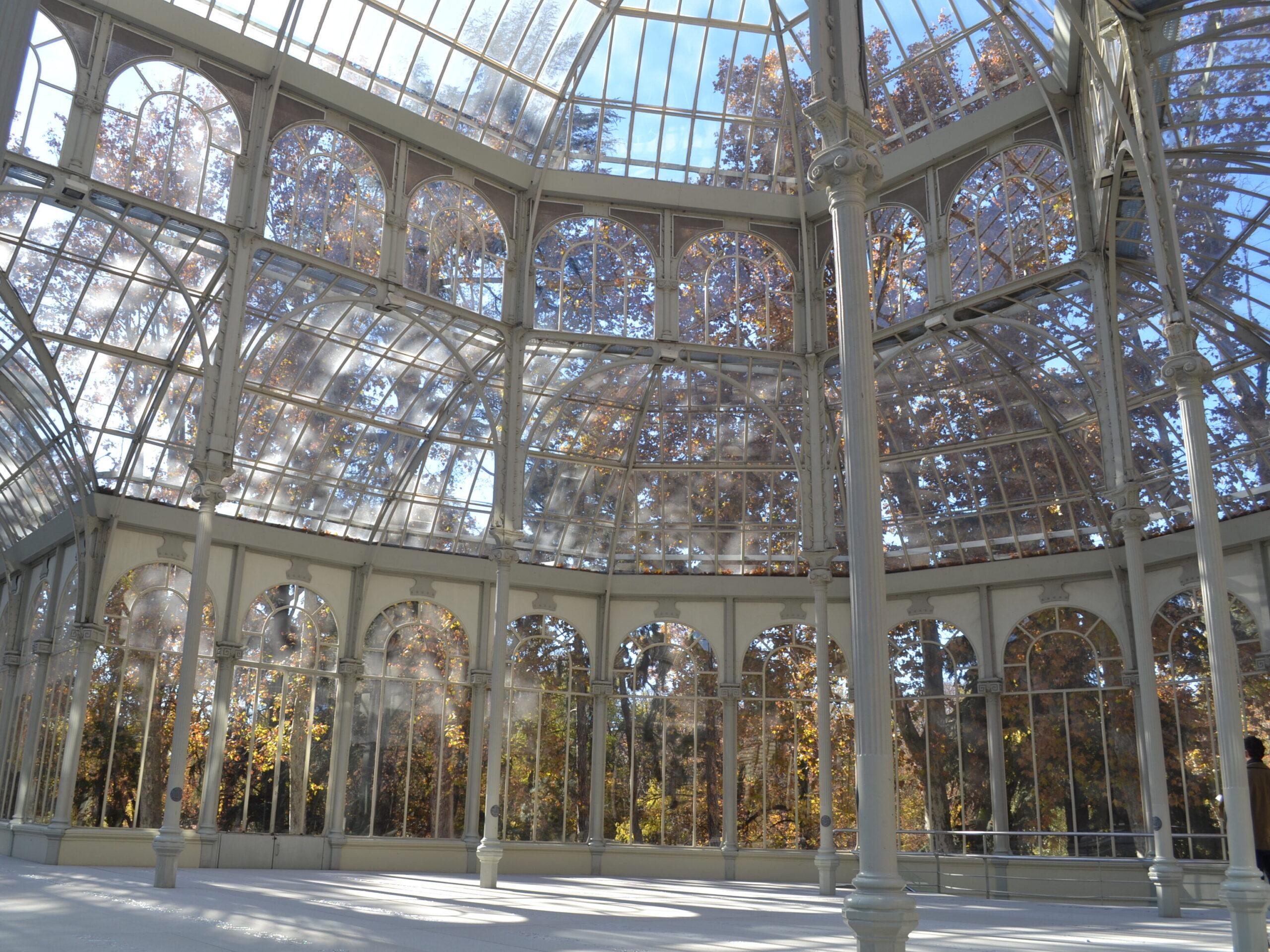 Palazzo di Vetro di Madrid visto all'interno