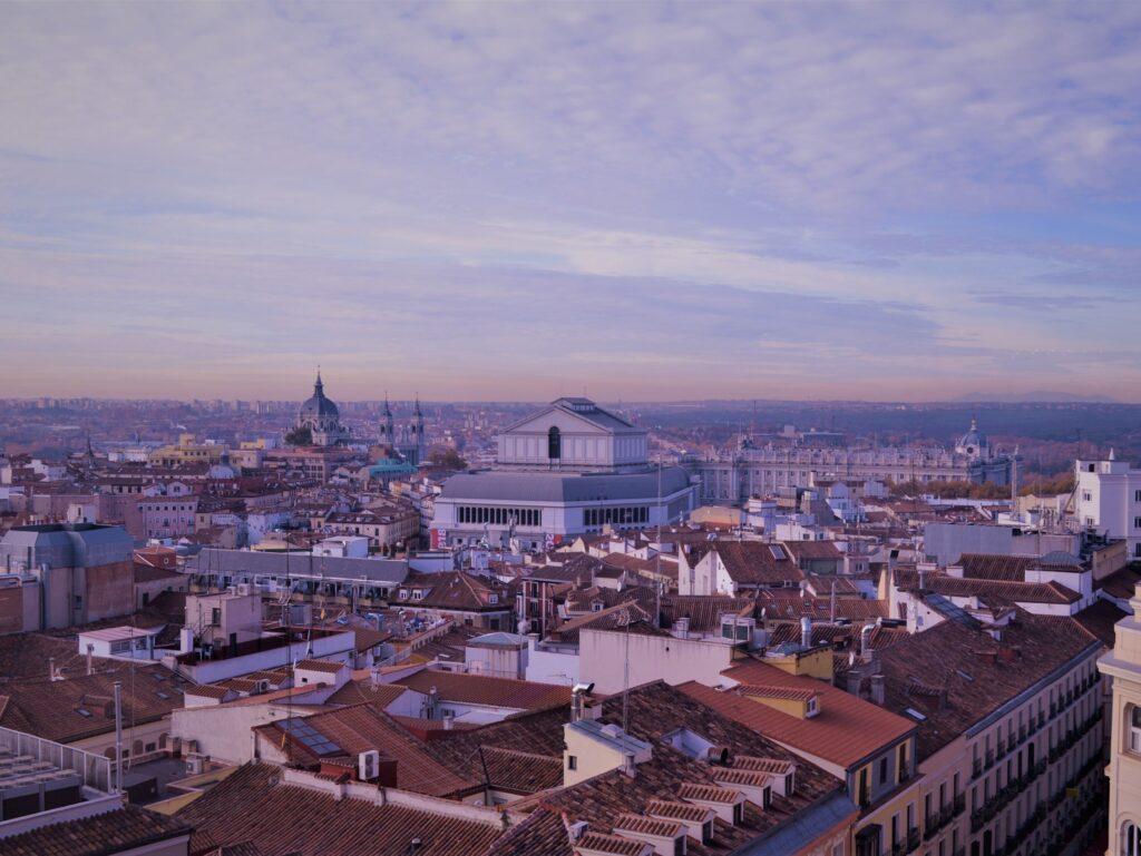 Panorama di Madrid dalla terrazza di El Corte Inglés