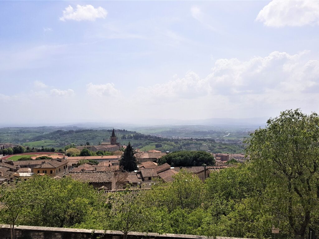 Il belvedere dai Giardini Carducci di Perugia